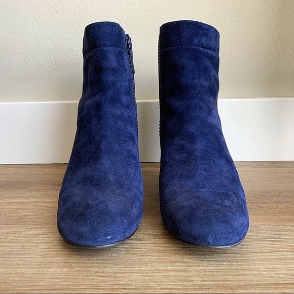 Cole Haan Shoes | Blue Suede Boots Size
